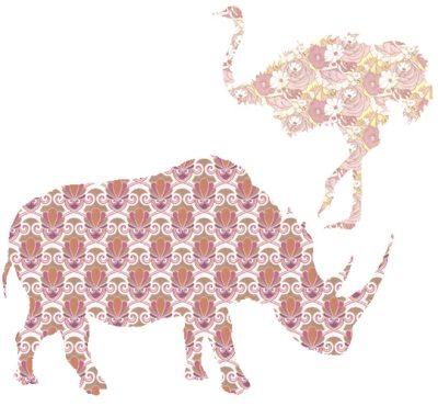 контуры животных из обоев для обновления интерьера своими руками