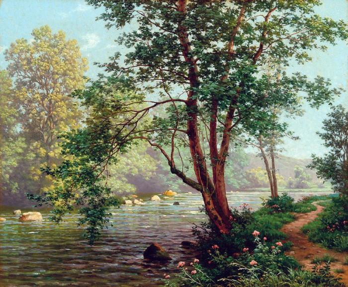 пейзажи художник Charles Edmond Rene-His - 11