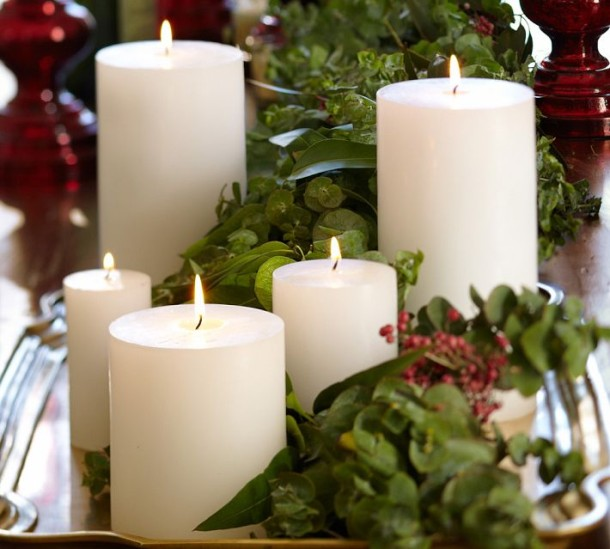 furniture-and-accessories-fresh-greenery-decorative-candles-for-easy-minimalist-warm-christmas-decoration-ideas-lovely-joyful-xmas-centerpieces-and-decorating-ideas