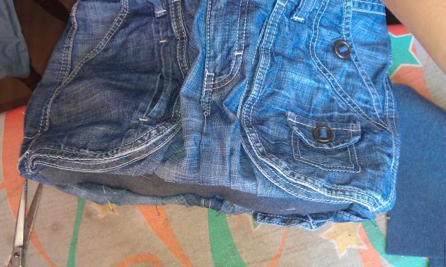 Модная сумка из старых джинсов, фото № 9