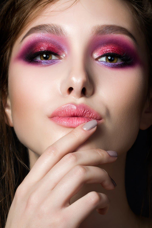 Картинки макияж глаз розовый этого потребуются