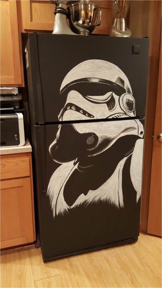 Идея росписи холодильника