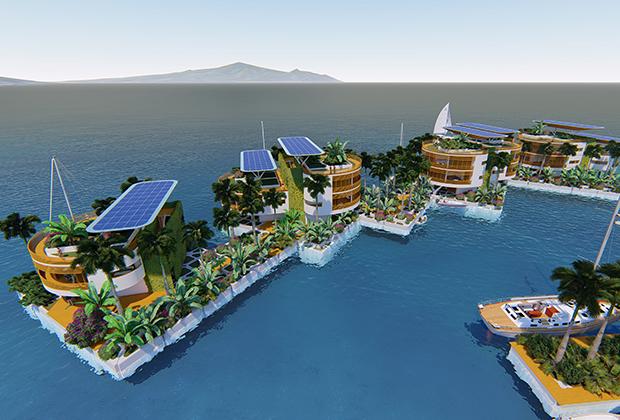 Плавучие города - престиж богатых. Искусственные острова из всего мира (17 фото + видео)