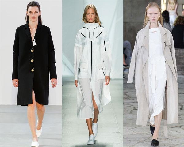 Модные плащи без ремня весна 2015