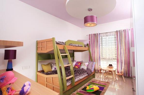 Стильная спальня для девочки с двухъярусной кроватью от Savio & Rupa Interior Concepts