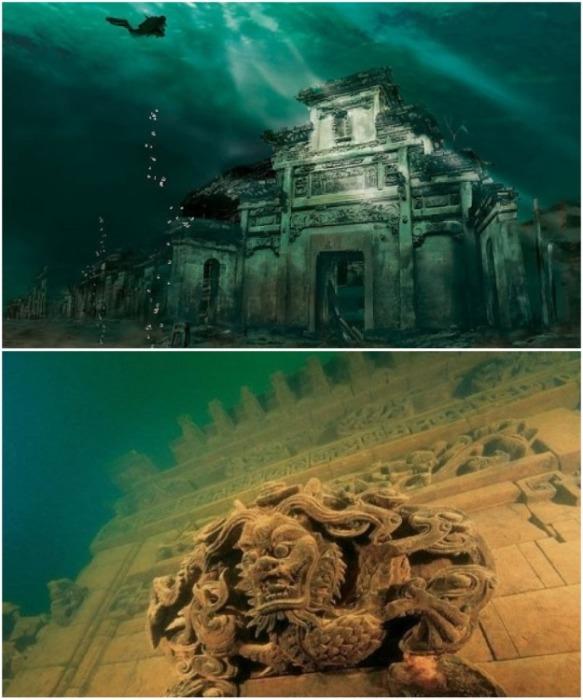 Древний город Шичен был затоплен в 1959 г. из-за строительства ГЭС (Китай). | Фото: tour2go.ru.