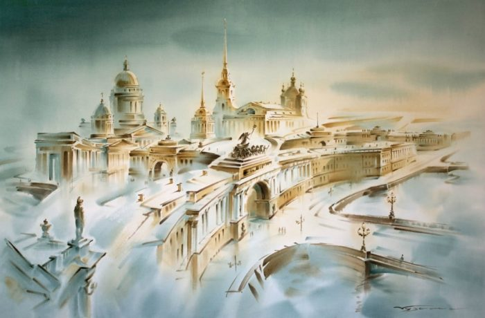 художник Константин Кузема акварель картины - 01