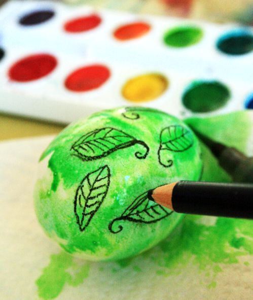 мастер-класс роспись пасхальных яиц акварелью и акварельным карандашом