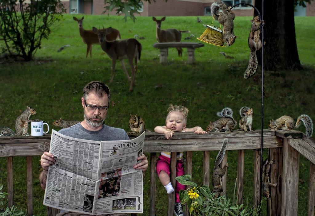 Смешная картинка папа с ребенком, бухлом