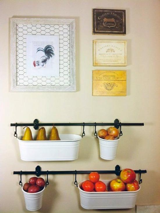 Настенное хранение фруктов