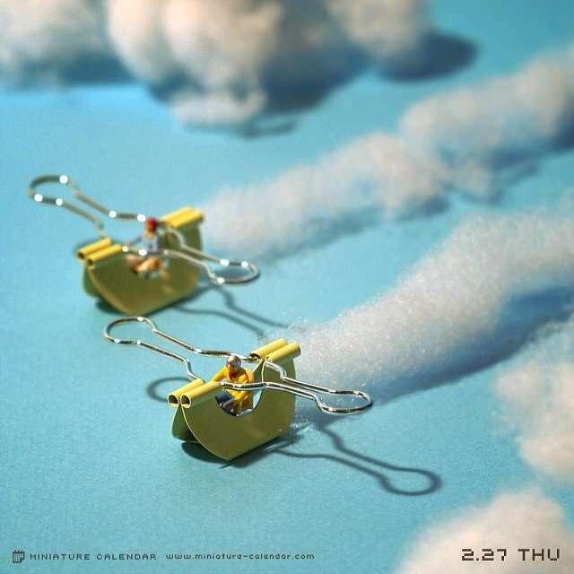 Японский художник Танака Тацуя несколько лет создает неповторимый маленький мир (25 фото)