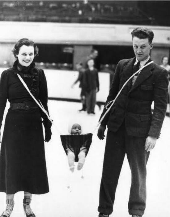 Люлька для ношения ребенка на льду.   Фото: LiveJournal.