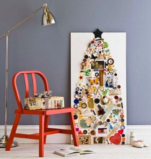 Дизайнерская елка на стену