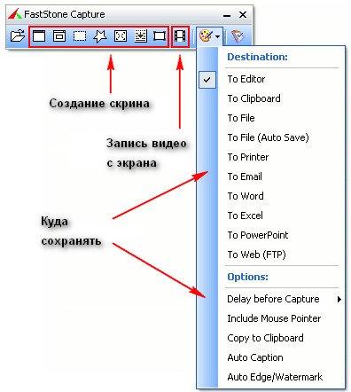 Fastone - меню программы