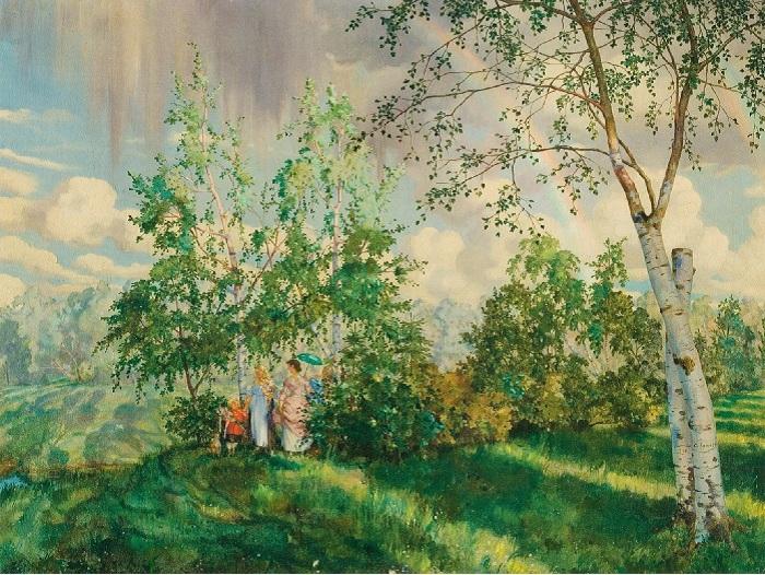 «Радуга». 1927г.  К.Сомов.