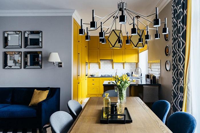Если вам хочется яркую и солнечную нотку для кухни, желтый цвет отлично подойдет для воплощения вашей идеи в реальность.