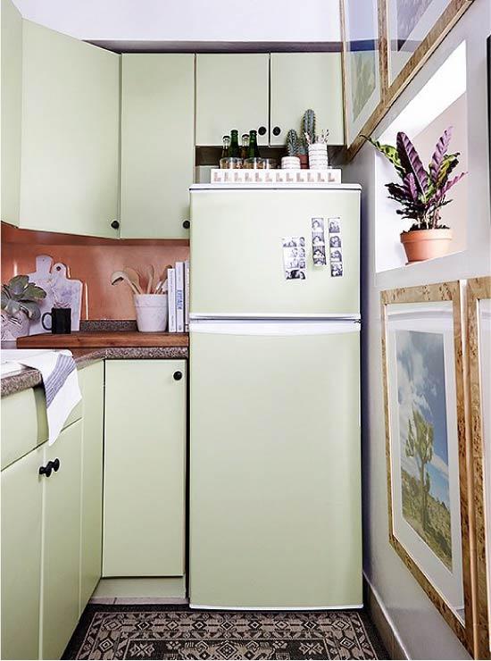 Покраска холодильника в тон гарнитура
