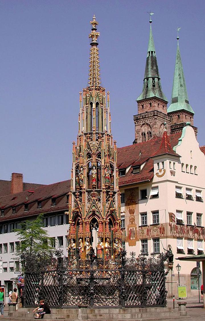 Красивый фонтан, Нюрнберг достопримечательности, желания, мир