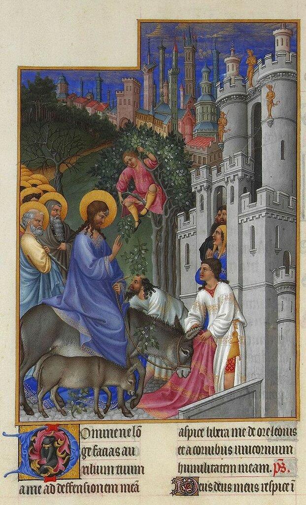 800px-Folio_173v_-_The_Entry_into_Jerusalem лимбÑÑги.jpg