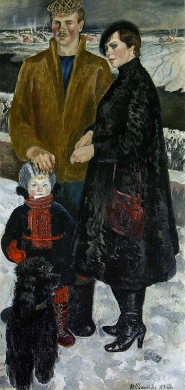 Широкова Инна. Семейный портрет.1983г.