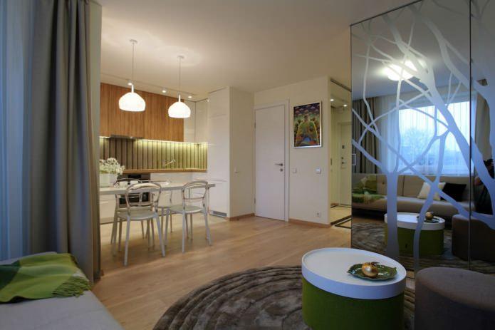 Интерьер квартиры 35 кв. м.