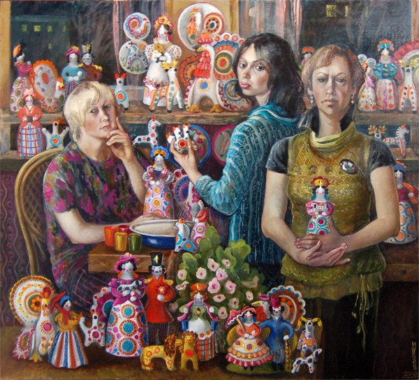 Широкова Инна. Мастерицы дымковской игрушки. 2009г.