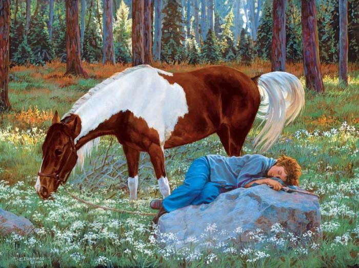 лошади художник Bonnie Marris - 10
