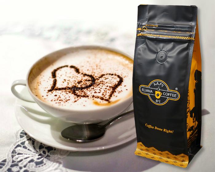 Отверстие в пакете натурального кофе.   Фото: www.paperbags.qa.