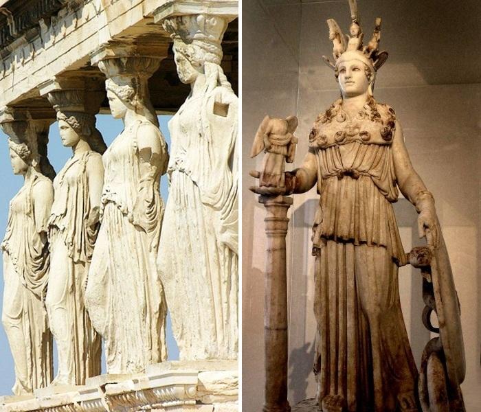Парфенон был построен в честь богини Афины-Паллады (Афины, Греция). | Фото: aero-hotels.blogspot.com.
