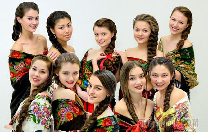 Русская девушка с косичками аня фото 585-60