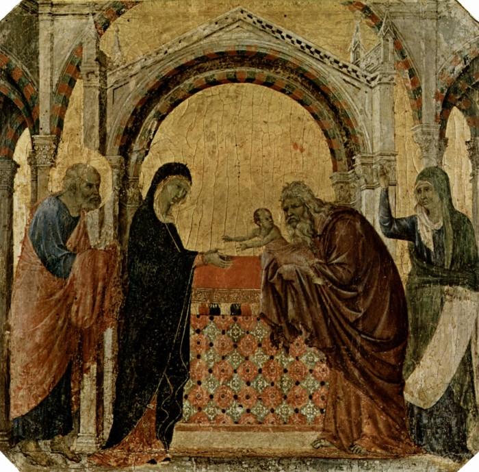 Дуччо ди Буонисенья. Принесение во храм. 1308-1311