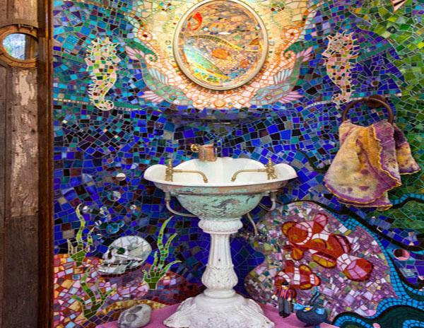 Подводный мир из мозаики