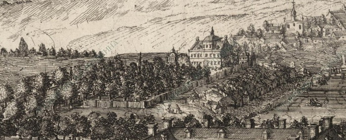 Немецкая слобода. Гравюра XVII века