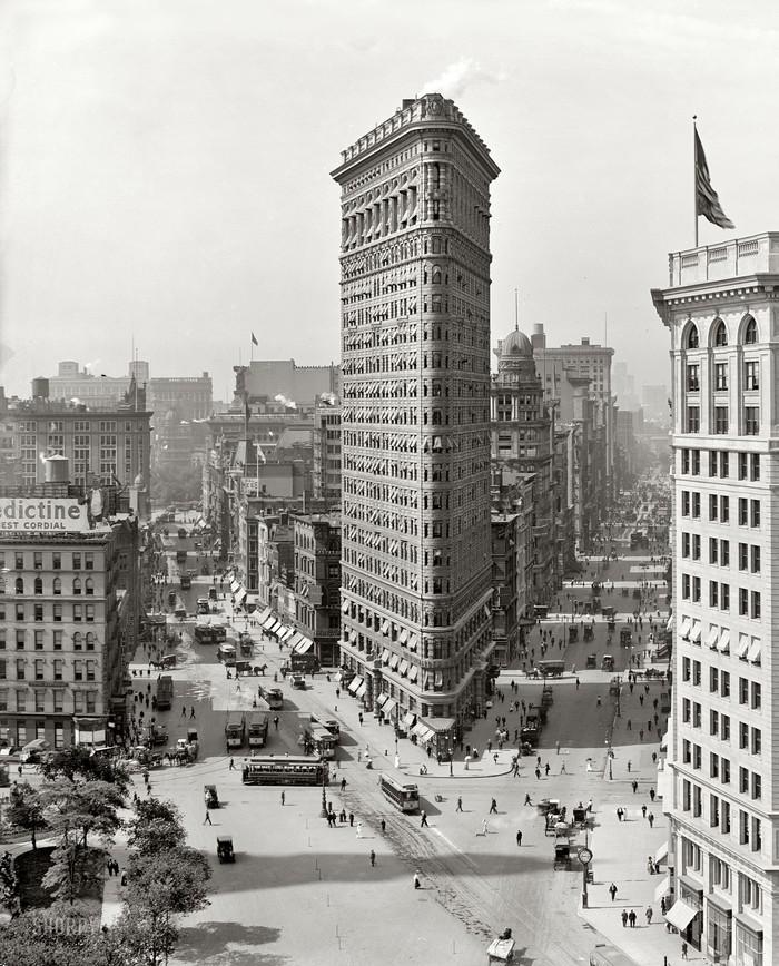 Флэтайрон-билдинг, 1909 год. жара, история, кондиционер