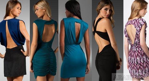 Вырезы на платьях - какая открытая спина выглядит эффектнее?