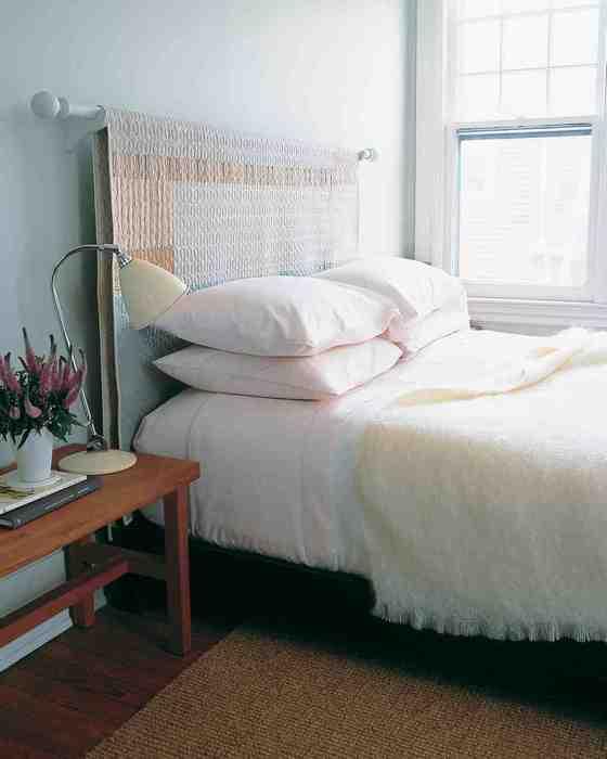 Текстильное изголовье кровати