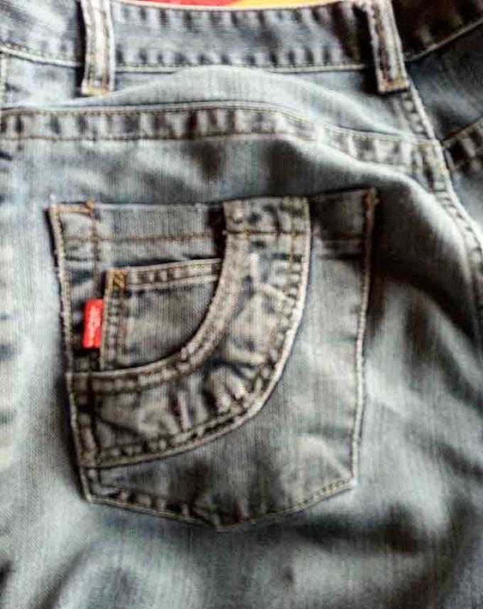 Готовые карманы на сшитых своими руками женских брюках, пример 9