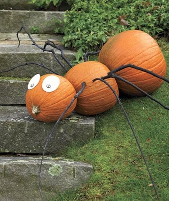 Паук из тыкв на Хэллоуин