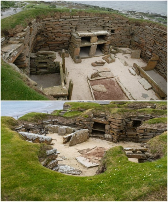 Скара-Брей – одна из древнейших хорошо сохранившихся неолитических стоянок в Европе (Оркнейские острова, Шотландия).   Фото: ru.newsner.com.