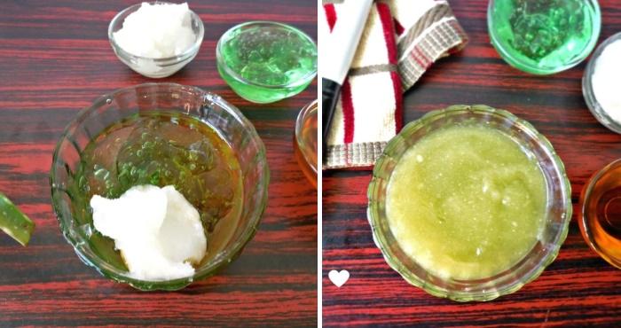 Рецепт маски для волос с алоэ вера и кокосовым маслом