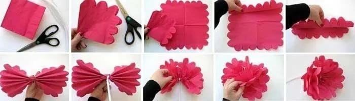 Бумажные цветы своими руками схемы шаблоны