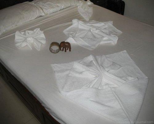 Причудливые фигуры из полотенец