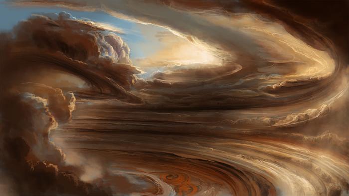 Буря на Юпитере.