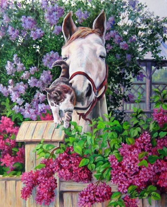 лошади художник Bonnie Marris - 15