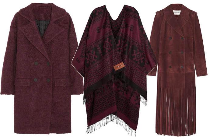 Выбор ELLE: шерстяное пальто Karl Lagerfeld, пончо Finds, замшевое пальто Valentino