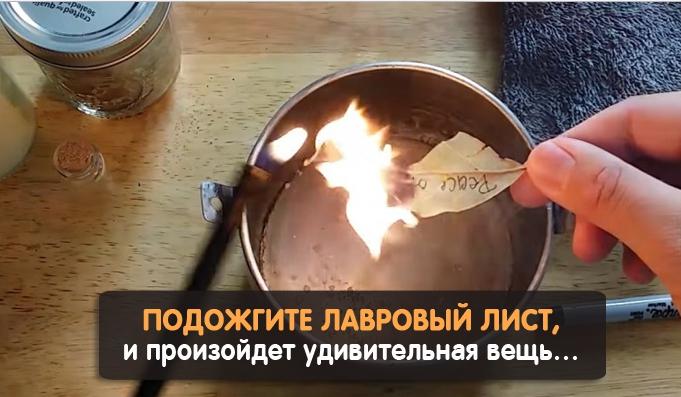 Удивительная вещь произойдет, если поджечь лавровый лист