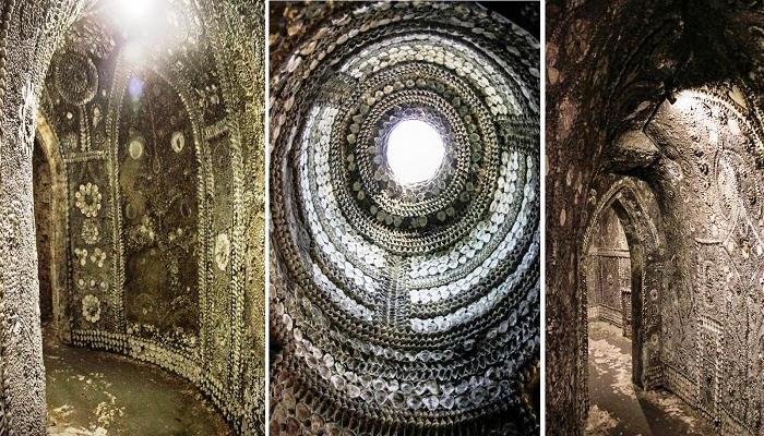 Невероятный подземный храм обнаружил мальчик под землей (Margate Shell Grotto).