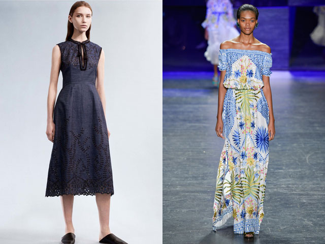Модные платья весна-лето 2017 в стиле бохо