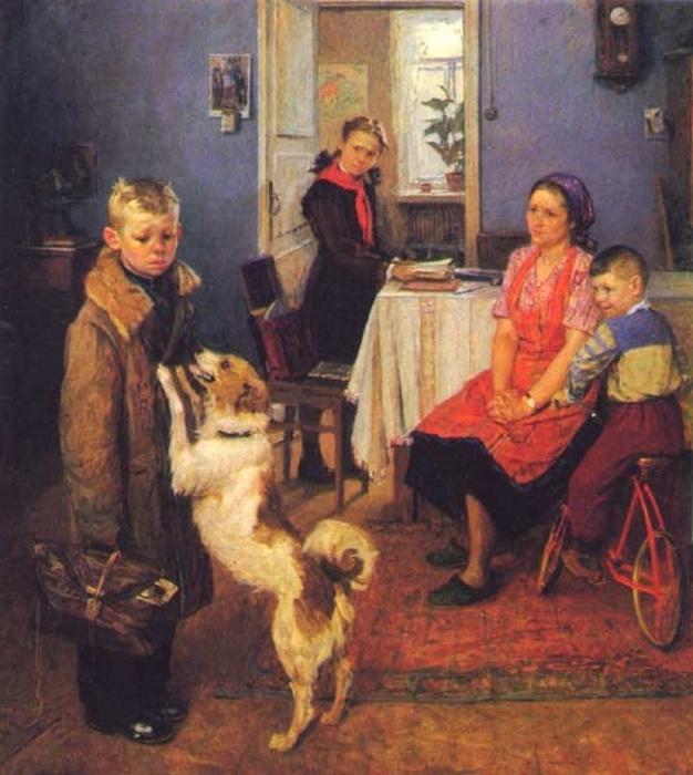 Федор Решетников, «Опять двойка», 1952 год