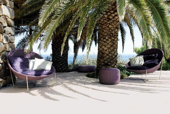 Фиолетовые кресла Papasan